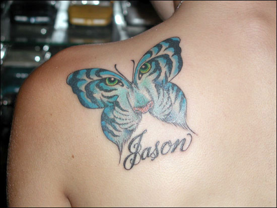 Blue Butterfly Tattoo Design By Jason  Expo