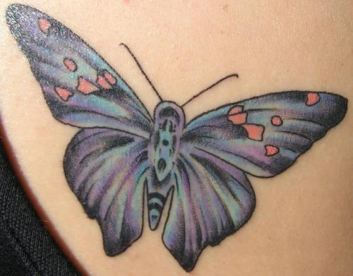 black butterfly tattoos. Blue utterfly tattoo designs