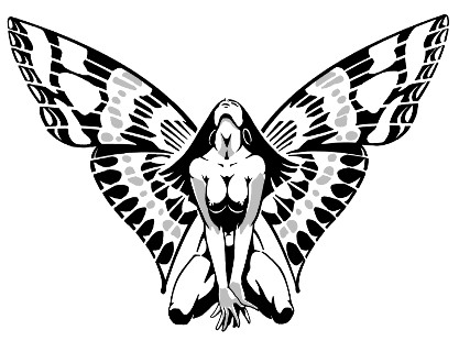 butterfly woman small design tattoo tattoo expo. Black Bedroom Furniture Sets. Home Design Ideas