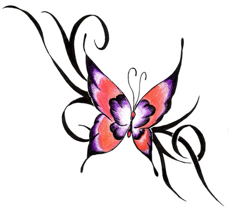 Tattoos  Girls on Popular Butterfly Tattoo Design For Women   Tattoo Expo