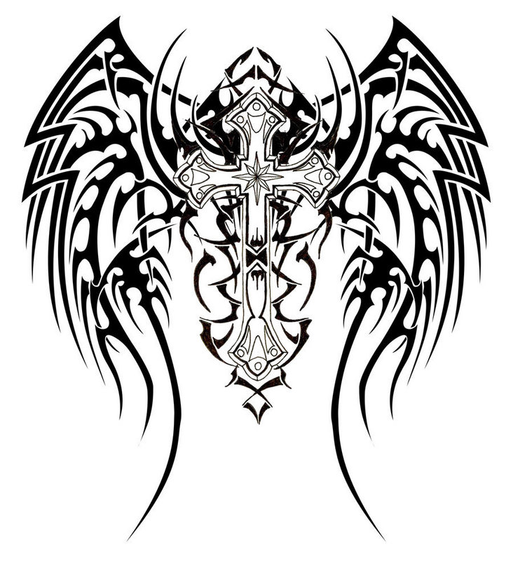 tattoo tribal unique wings Expo  unique Tattoo tribal  cross design Tattoo
