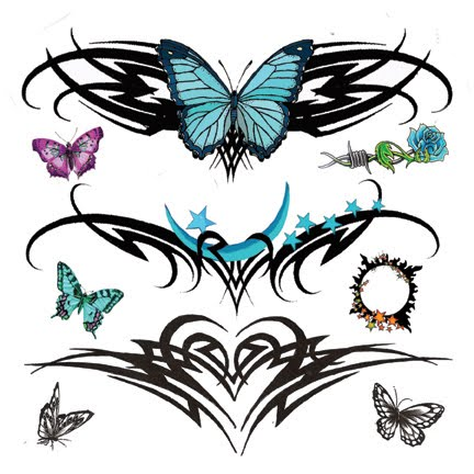 Tribal   Tattoos on Beautiful Lower Back Tattoos With Tribal Tattoos Butterfly Designs