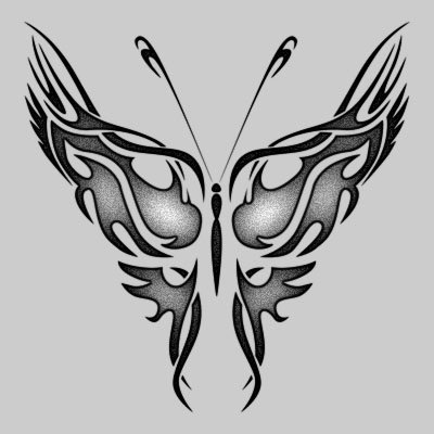 Butterfly tattoo design black and white tattoo expo for Cool drawings of butterflies