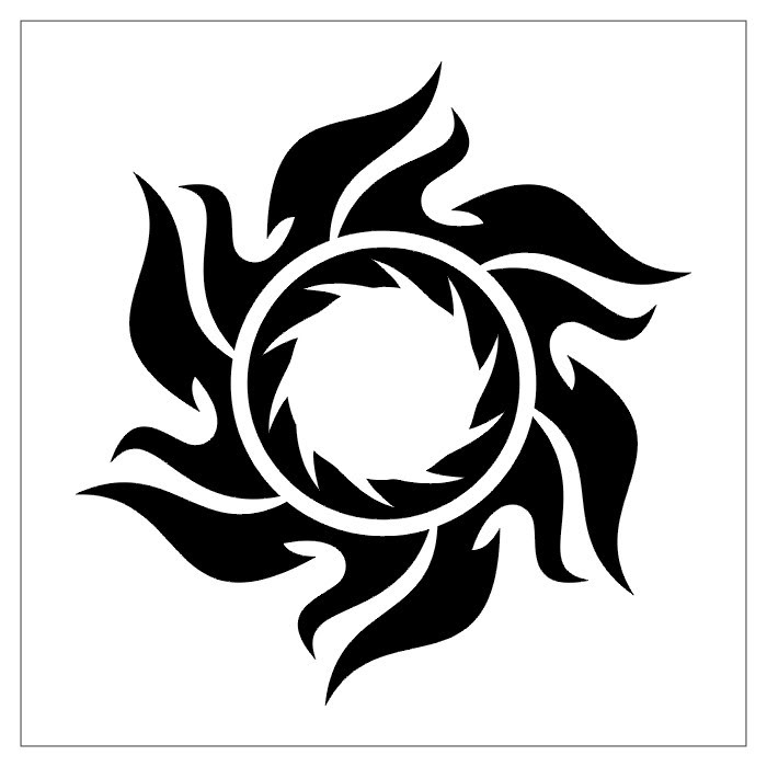 tribal sun tattoo designs popular tattoo designs