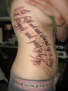 Feminine Tattoo Lettering