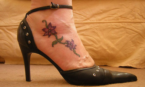 small flower tattoo. Small+flower+tattoos+on+foot