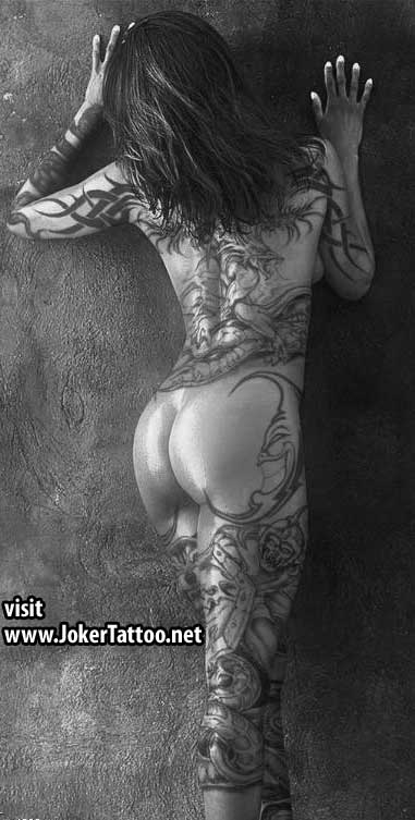 full back tattoo woman. tattoo design for women on the