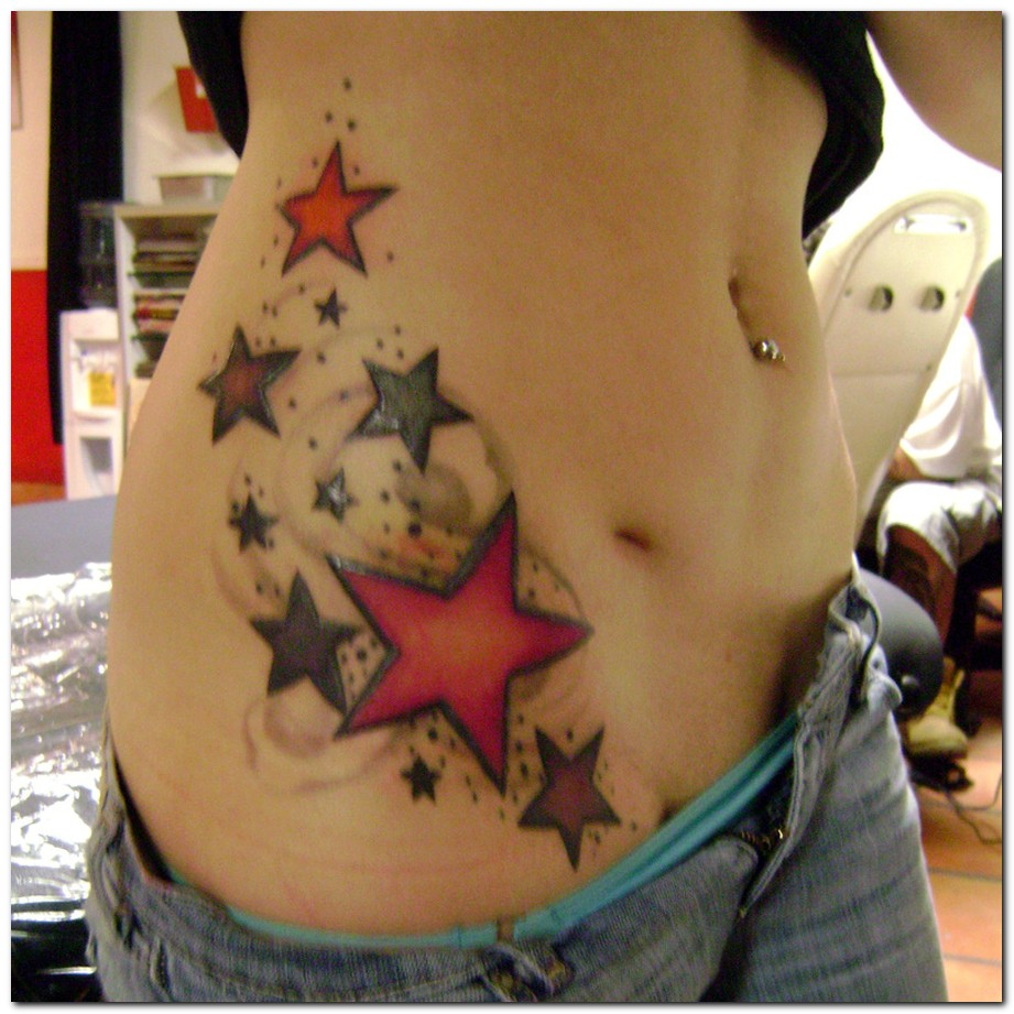 Girl tattoo designs on lower back