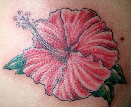 Big red flower tattoo designs