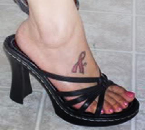 Pink Ribbon Tattoo Pictures: Symbol Pink Ribbon Tattoo Designs