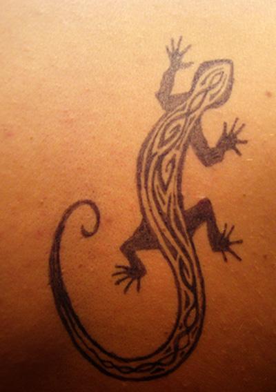 tribal lizard tattoos. Tribal gecko tattoo designs