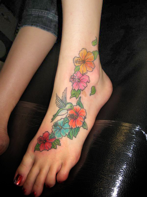 Pretty Colorful Flower Tattoos: WP Images: Hawaiian Flowers, Post 13