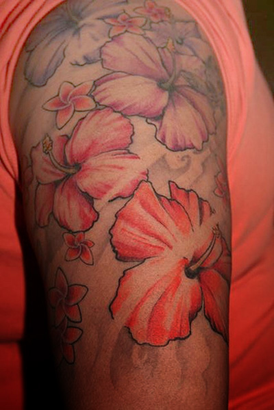 big red flower tattoo designs tattoo expo. Black Bedroom Furniture Sets. Home Design Ideas