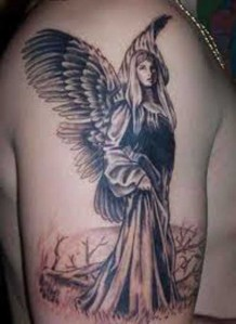 beautiful angel tattoos design for women tattoo expo. Black Bedroom Furniture Sets. Home Design Ideas