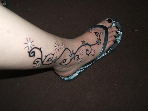 Star foot tattoos find the best stars tattoo expo for Star tattoos on foot