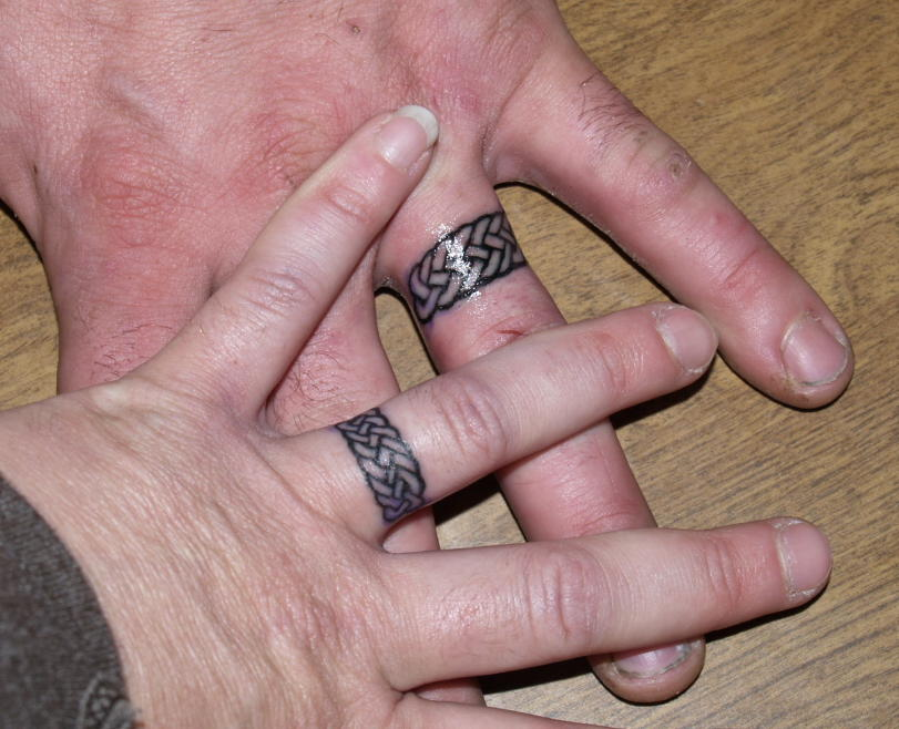 Colored Wedding Ring Tattoos: Wedding Ring Tattoos: The Ultimate Symbols Of Love